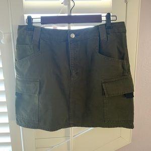 Topshop olive green skirt